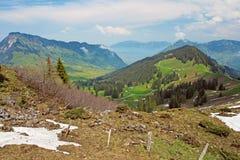 Bello paesaggio delle alpi svizzere Immagini Stock