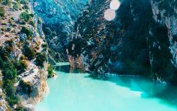Bello paesaggio delle gole du Verdon in Francia del sud Fotografie Stock Libere da Diritti