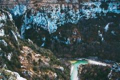 Bello paesaggio delle gole du Verdon in Francia del sud Immagini Stock