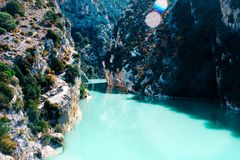 Bello paesaggio delle gole du Verdon in Francia del sud Immagine Stock