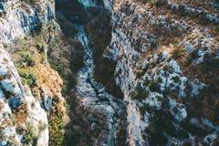 Bello paesaggio delle gole du Verdon in Francia del sud Fotografia Stock