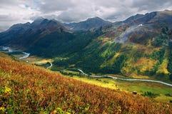 Bello paesaggio delle montagne Fotografia Stock Libera da Diritti
