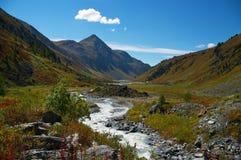 Bello paesaggio delle montagne. Fotografia Stock
