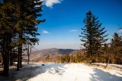 Bello paesaggio delle montagne di inverno Immagini Stock Libere da Diritti