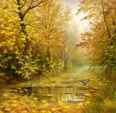 Bello paesaggio di autunno illustrazione di stock