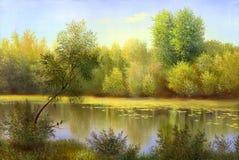 Bello paesaggio di autunno illustrazione vettoriale