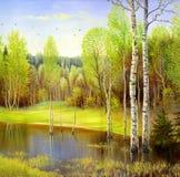 Bello paesaggio di autunno royalty illustrazione gratis