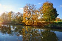 Bello paesaggio di autunno Immagine Stock