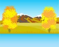 Bello paesaggio di autunno Fotografia Stock Libera da Diritti