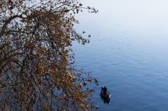 Bello paesaggio di autunno in lago Ocrida Immagine Stock Libera da Diritti