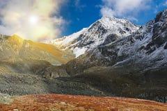 Bello paesaggio di autunno, montagne Russia di Altai Immagine Stock Libera da Diritti