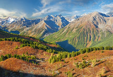Bello paesaggio di autunno, montagne Russia di Altai Fotografia Stock