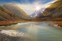 Bello paesaggio di autunno, montagne Russia di Altai Immagini Stock Libere da Diritti