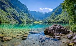 Bello paesaggio di estate al Obersee, Koenigssee, Bavari Fotografie Stock Libere da Diritti