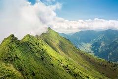 Bello paesaggio di estate della montagna nelle alpi, Austria Fotografia Stock Libera da Diritti