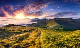 Bello paesaggio di estate in montagne. Immagine Stock Libera da Diritti