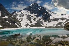 Bello paesaggio di estate, montagne Russia di Altai Immagine Stock