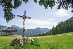Bello paesaggio di estate nelle alpi francesi Fotografie Stock Libere da Diritti
