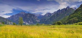 Bello paesaggio di estate nelle alpi italiane Immagine Stock Libera da Diritti