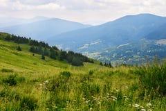 Colline della montagna Fotografie Stock Libere da Diritti