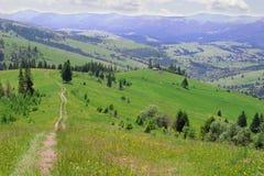 Colline della montagna Fotografia Stock Libera da Diritti