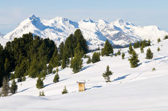 Bello paesaggio di inverno Fotografie Stock