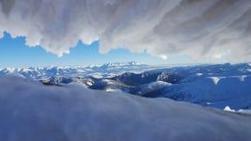 Bello paesaggio di inverno in Carpathians Fotografia Stock