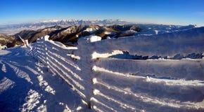 Bello paesaggio di inverno in Carpathians Immagini Stock Libere da Diritti