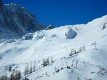Bello paesaggio di inverno delle montagne del gebirge dei totalizzatori Fotografia Stock Libera da Diritti
