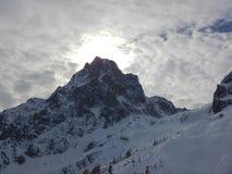Bello paesaggio di inverno delle montagne del gebirge dei totalizzatori Immagine Stock Libera da Diritti