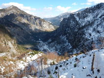 Bello paesaggio di inverno delle montagne del gebirge dei totalizzatori Immagini Stock Libere da Diritti
