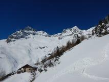 Bello paesaggio di inverno delle montagne del gebirge dei totalizzatori Fotografie Stock Libere da Diritti