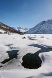 Bello paesaggio di inverno, montagne di Altai, Siberia, Russia Immagini Stock