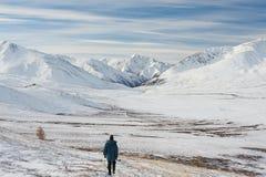 Bello paesaggio di inverno, montagne Russia di Altai Fotografie Stock Libere da Diritti