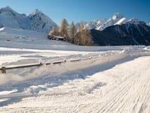 Bello paesaggio di inverno nelle alpi svizzere Immagine Stock