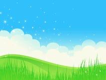 Bello paesaggio di lustro di estate. Fotografia Stock Libera da Diritti