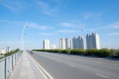 Bello paesaggio di mattina del ponte di Thu Thiem del 'chi' noioso Minh City Fotografie Stock
