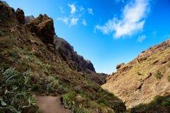 Bello paesaggio di Tenerife - valle di Masca Immagini Stock Libere da Diritti