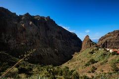 Bello paesaggio di Tenerife - villaggio di Masca Fotografia Stock