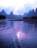 Bello paesaggio di Yangshuo a Guilin, Cina Fotografia Stock