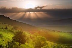 Bello paesaggio inglese della campagna Fotografia Stock Libera da Diritti