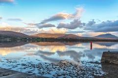 Bello paesaggio irlandese rurale della natura del paese dal a nord-ovest dell'Irlanda fotografia stock libera da diritti