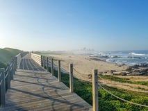 Bello paesaggio lungo la strada di pellegrinaggio di Saint James, Portoghese di Camino, Portogallo della molla immagine stock libera da diritti