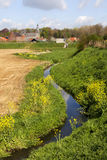 Bello paesaggio nel Belgio, Sint-Truiden, Bevingen Immagini Stock