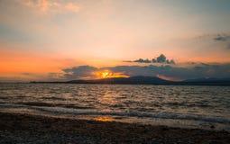 Bello paesaggio nel mare Immagine Stock
