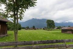 Bello paesaggio nelle alpi bavaresi Fotografia Stock