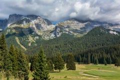 Bello paesaggio nelle alpi italiane Fotografia Stock Libera da Diritti