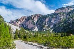 Bello paesaggio nelle dolomia, Fanes-Sennes-Braies, Italia della montagna Immagine Stock Libera da Diritti
