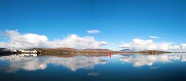 Bello paesaggio panoramico irlandese dall'isola del achill in contea Mayo fotografia stock libera da diritti