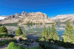 Bello paesaggio in Rocky Mountains, Canada Fotografia Stock Libera da Diritti